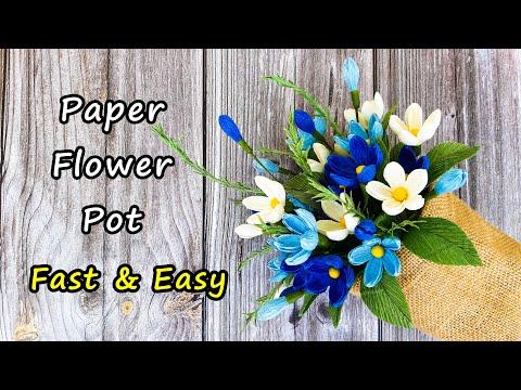Paper Flowers Pot / DIY Home Decor / Góc nhỏ Handmade   Foci