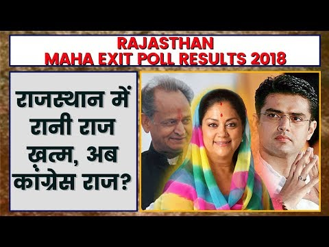Rajasthan Exit Poll of Polls Result 2018  Rajasthan Maha Exit Polls Result 2018