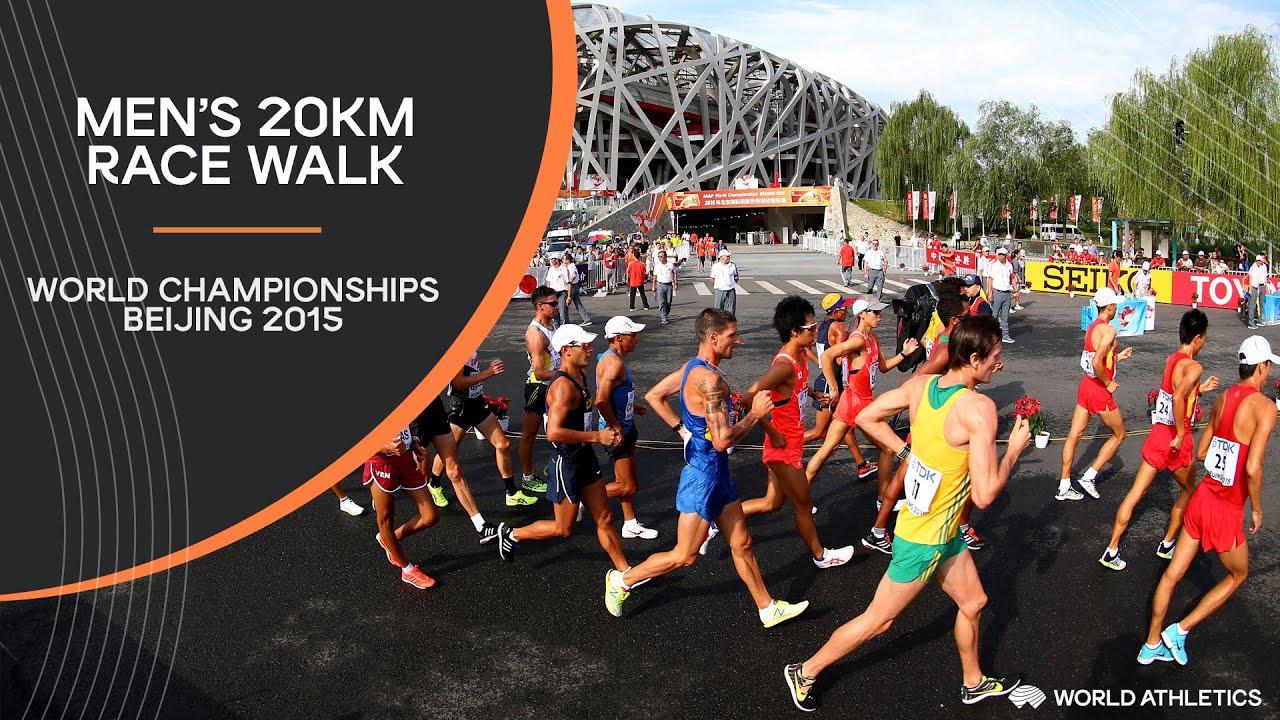 Men's 20km Race Walk   World Athletics Championships Beijing 2015