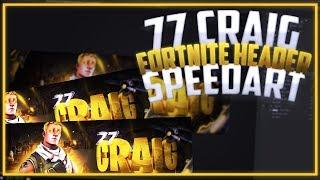 3D FORTNITE JONESY HEADER FOR 77 CRAIG @Craig_Craug @SevenSevenClan - FREE TEMPLATE IN DESC!!
