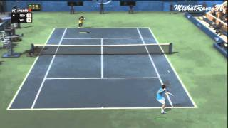 Top Spin 4 PS3 Demo - Federer vs Williams Gameplay