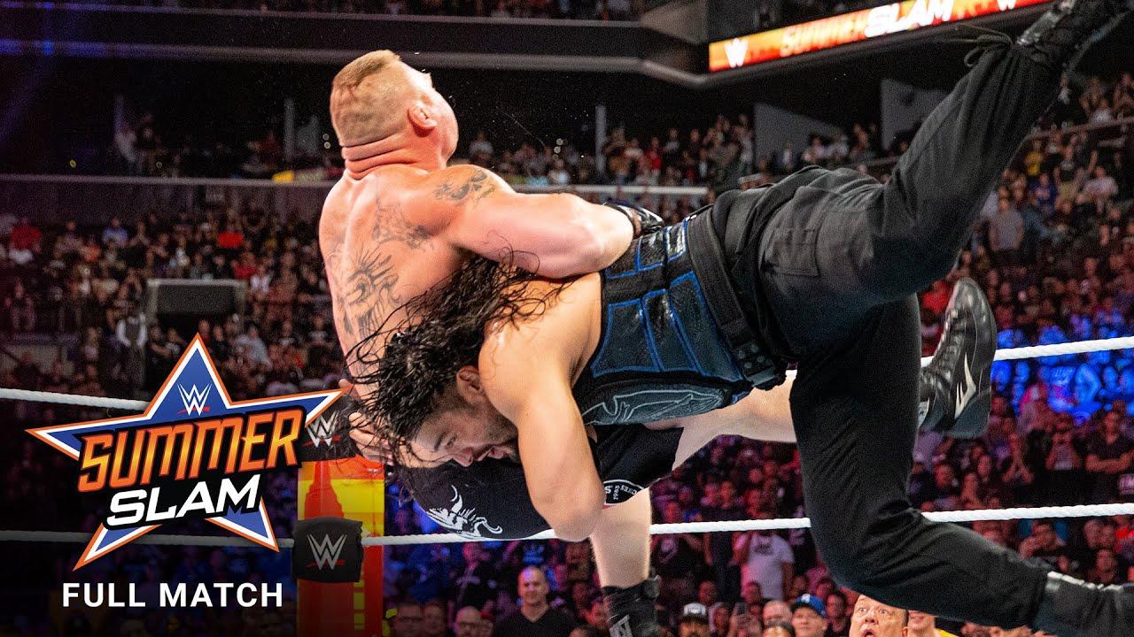 FULL MATCH - Brock Lesnar vs. Roman Reigns - Universal Title Match: SummerSlam 2018