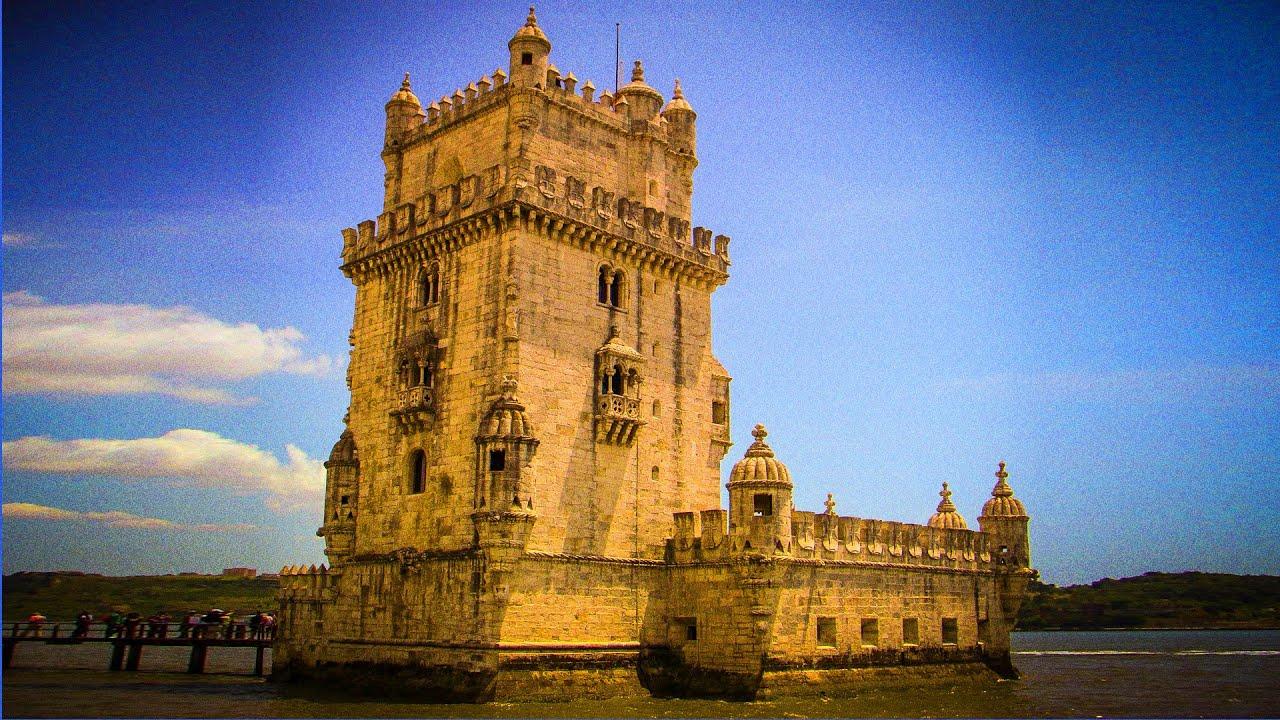 bel m tower torre de belem lisbon portugal   free hd