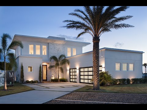 Modern smart home with incredible golf course views