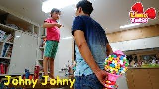 [Johny Johny Yes Papa]아빠! 라임 과자 칼라사탕 먹기! | 어린이 인기동요 장난감 놀이 LimeTube & Toy 라임튜브