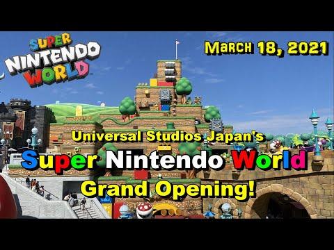 【USJ】Universal Studios Japan's Super Nintendo World Grand Opening! / ついに スーパー・ニンテンドー・ワールドがグランドオープン!