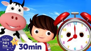 Whats The Time MR WOLF Song! +More Nursery Rhymes & Kids Songs | ABCs and 123s | Little Baby Bum