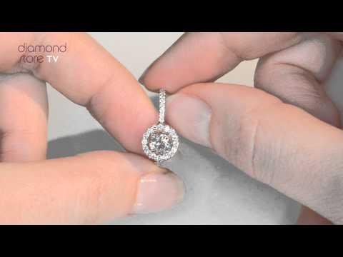 UT39 - Ella Round Diamond Ring In 18K White Gold