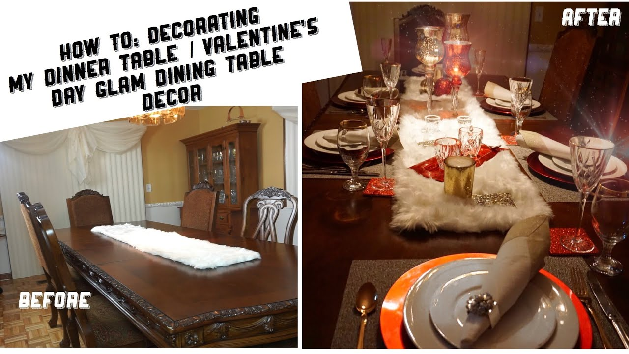 How To: Decorating My Dinner Table / Valentineu2019s Day Glam Dining Table Decor