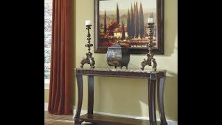 Signature design by ashley ledelle rectangular dark cherry sofa table