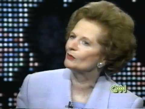 """Margaret Thatcher """"Larry King Live"""" 1995 (1)"""