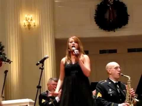 Jaycie Ward sings Tender Tennessee Christmas with the United States Army Signal Corps Band