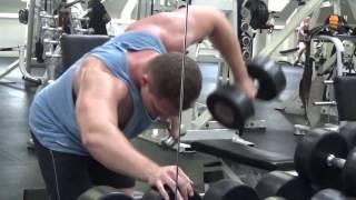 Тренировка верха спины и задних дельт