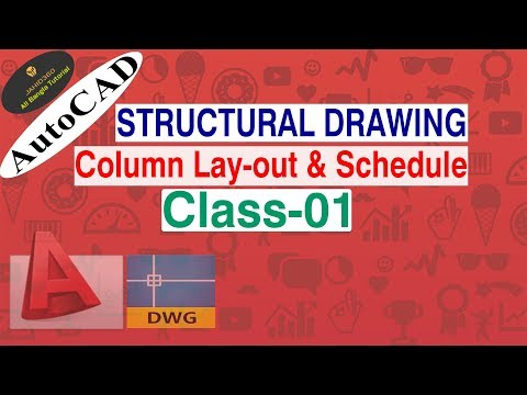 Structural Drawing l Column Lay-out & Column Schedule I Tutorial in Bangla(Class-01).
