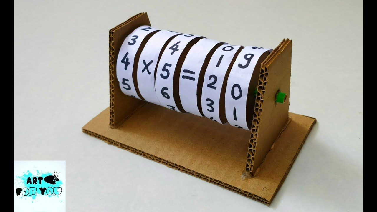 How to make Maths Learning Machine from Cardboard | Maths Learning Machine for Kids