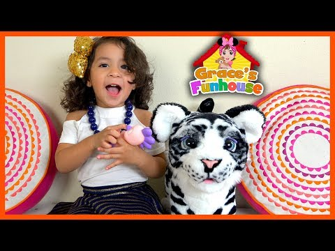 WOW FURREAL TIGER TOYS REVIEW in 4K From Hasbro Kids Toys, Surprise Toy & Toys Bloopers (Cool Toys)