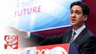Ed Miliband launching Labour