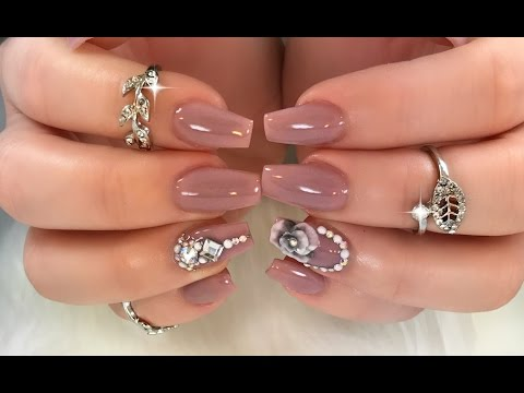 GORGEOUS Job Appropriate Bling Nails!