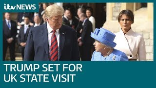 Donald Trump set for State Visit to the UK | ITV News
