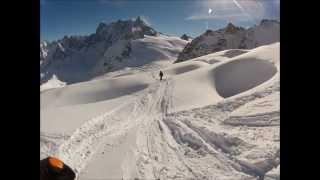 Skiing the Vallee Blanche