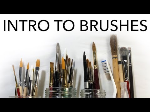 Intro to Brushes for Watercolor & Gouache