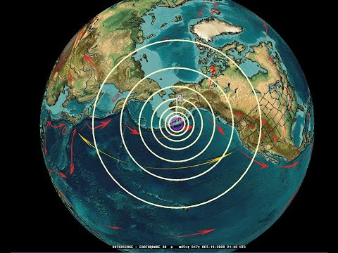 10/19/2020 -- Very Large Earthquake M7.5 and Tsunami Warning in Alaska