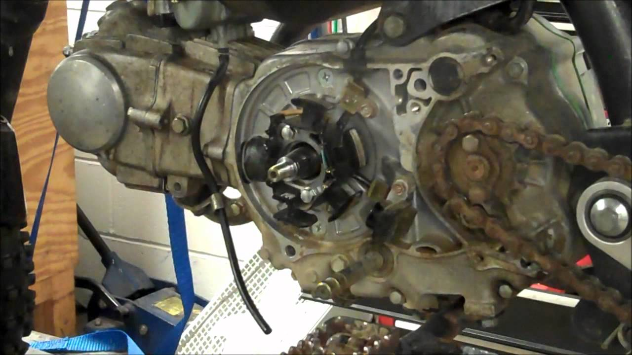 49cc Engine Diagram Simple Guide About Wiring Bicycle Honda 50 Flywheel Removal Installation With Puller Youtube 2 Stroke Dirt Bike