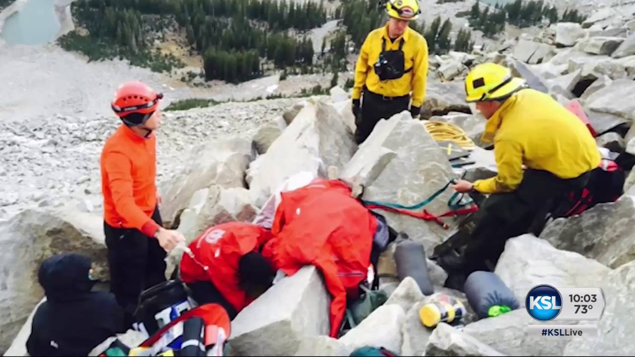 Rescuers free man trapped by loose boulder in Little Cottonwood Canyon