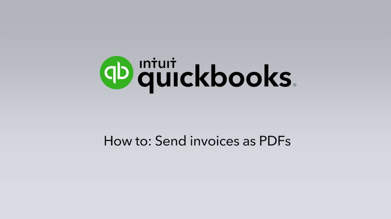 How to send invoices as PDFs - YouTube