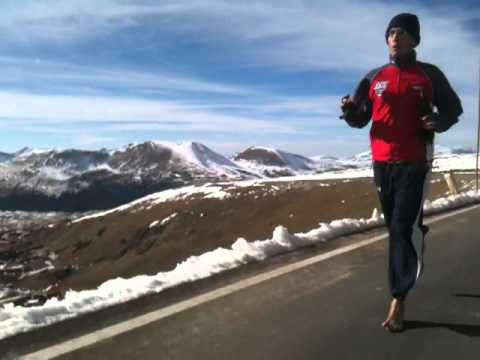 Barefoot Running at 12,000 Feet!