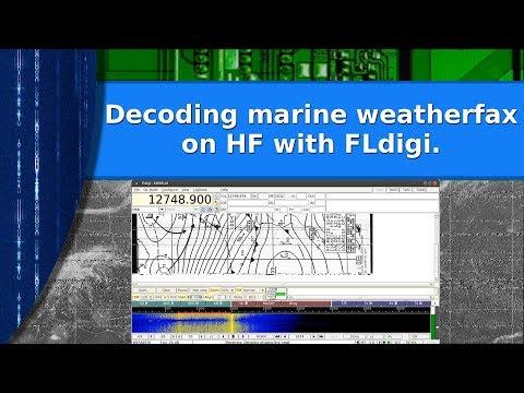 Ham Radio - Decoding marine weather fax using FLdigi on HF