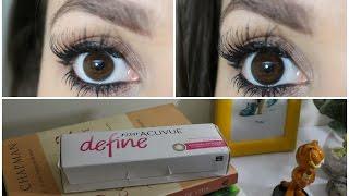 lentes de contato acuvue define   olhos brilhantes e destacados