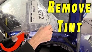 3 Best Ways to Remove Window Tint and Glue