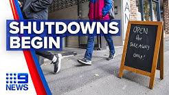 Coronavirus: Pubs, clubs, gyms and cinemas close today | Nine News Australia