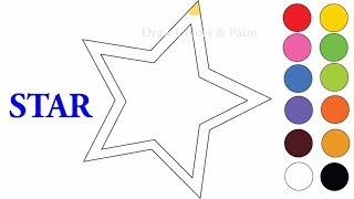 How To Draw Stars | Art For Kids | Drawing Videos | Coloring Pages | Drawing Books For Children