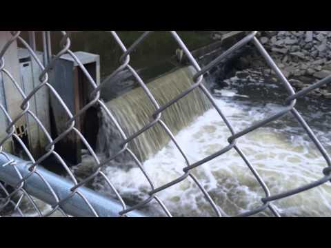 Trail creek lamprey barrier. July 16, 2014