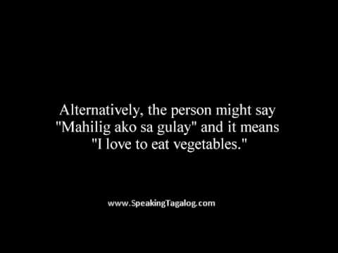 How to say love and I like in the Filipino language