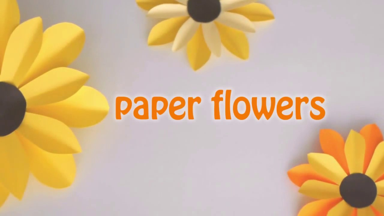How Make Flower With Paper Youtube