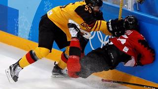 Olympic Icehockey final, Germany vs OAR  Russia at Winter Olympics in Pyeongchang