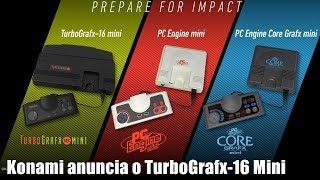 Konami anuncia o TURBOGRAFX 16 MINI [E3 2019]