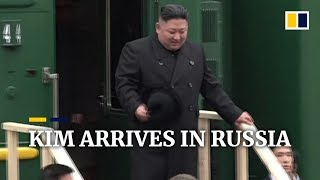 North Korea's Kim Jong-un arrives in Russia by special train for talks with Vladimir Putin