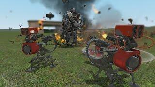 TF2 Engineers vs Giant Heavy ROBOTs in Garry's Mod