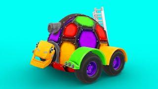 АнимаКары Изучение цветов для детей  Обучающие мультики для детей с машинами и зверями