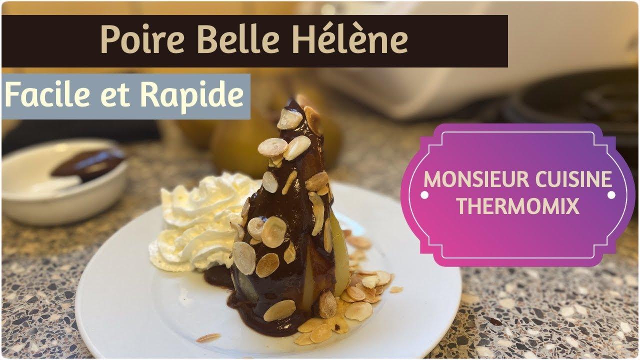 thermomix monsieurcuisineconnect recette poire belle helene