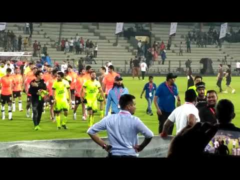 2017 Celebrity football match - Indian cricket team playing football with Bollywood stars