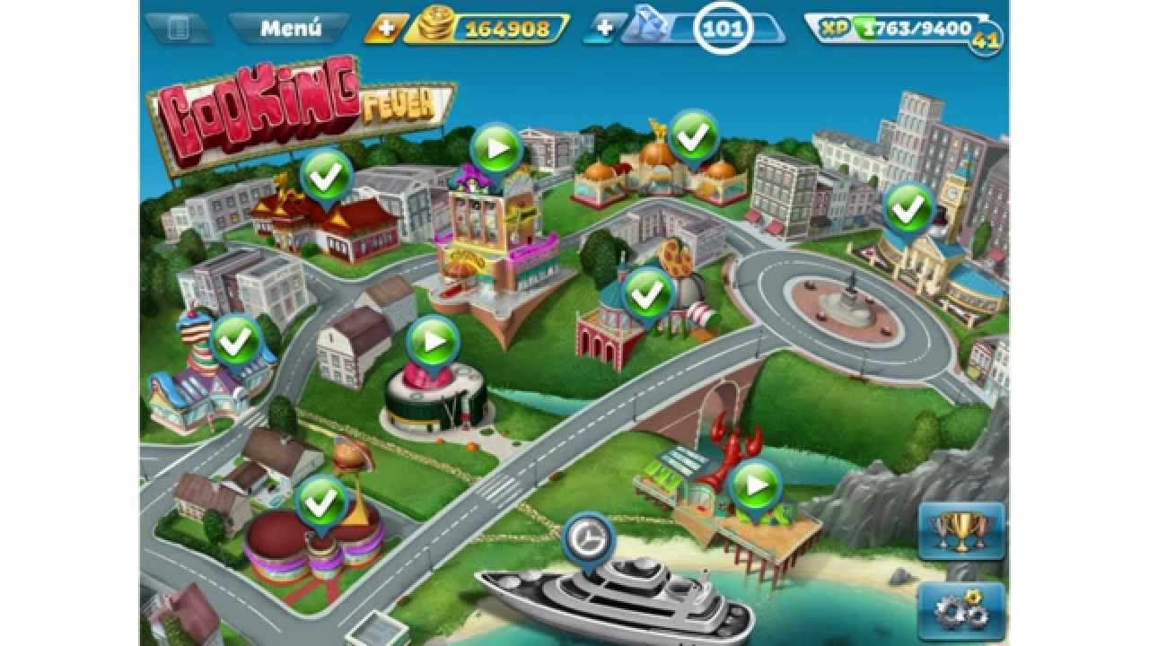 cooking fever win gems in casino