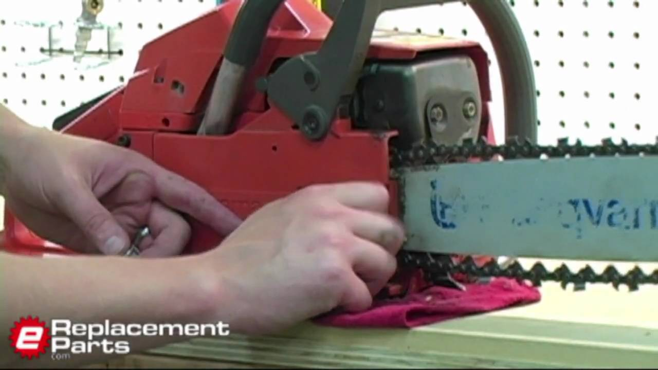 How to replace a chainsaw chain youtube greentooth Gallery