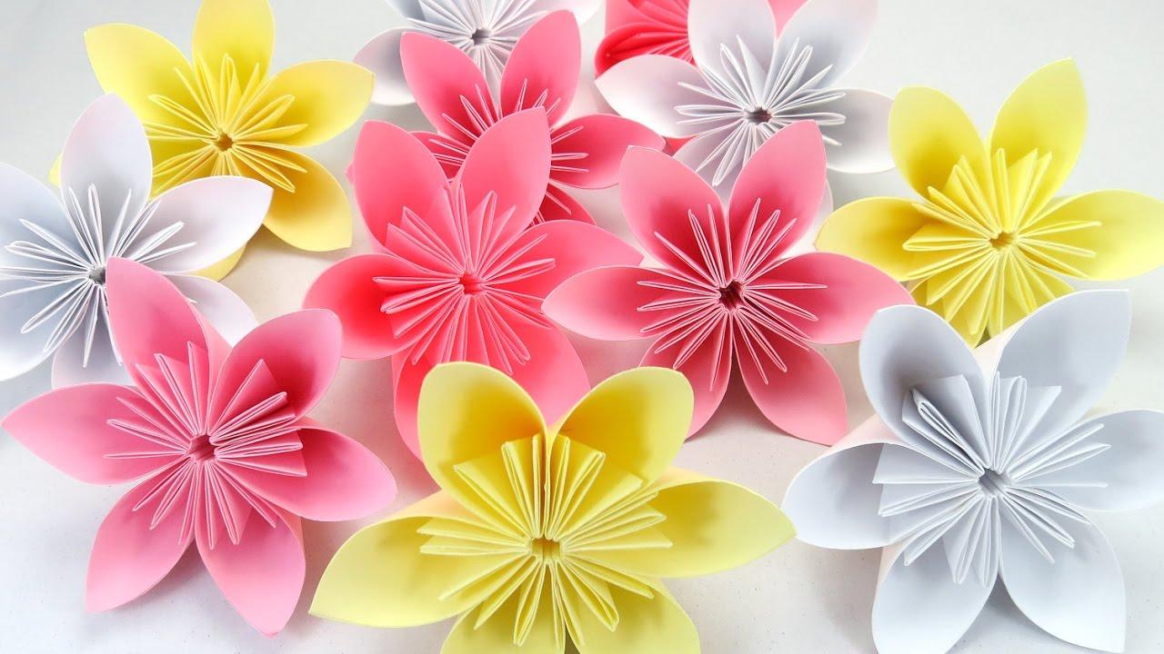 DIY ARRANJOS DE FLORES DE PAPEL 1 u00b0 ANIVERSÁRIO DA LARA YouTube -> Decoração De Flores De Papel Para Aniversario