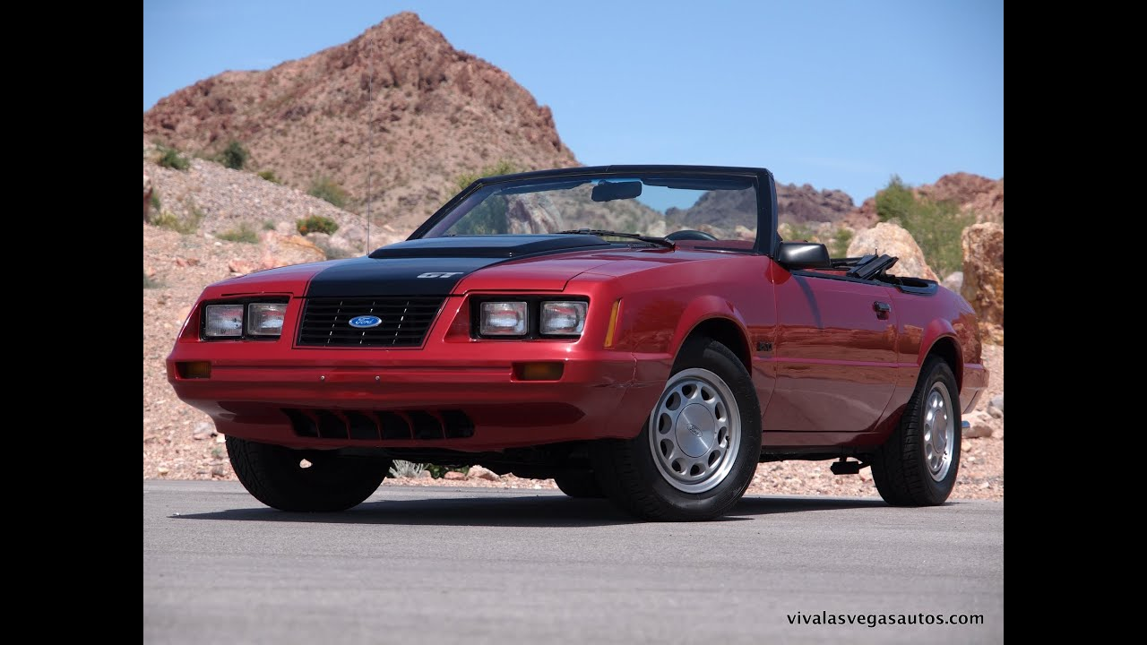 1983 convertible mustang fox body 5 0l manual transmission gt youtube