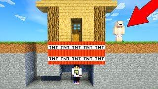 Майнкрафт ПЕ Выживание Как построить Дом ловушка 100% защита от Нуба Видео Minecraft Pocket Edition